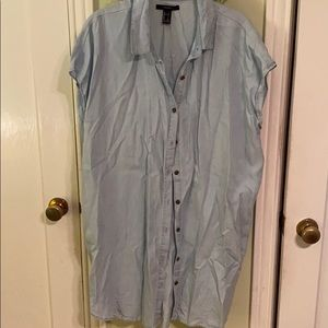 Wrinkled Button Down Shirt—worn